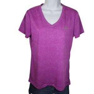 Adidas Purple Ultimate Tee Athletic Top V-neck